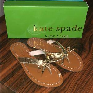 Kate spade NEW! gold glitter sandals